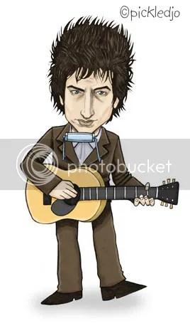 Bob Dylan Caricature Cartoon