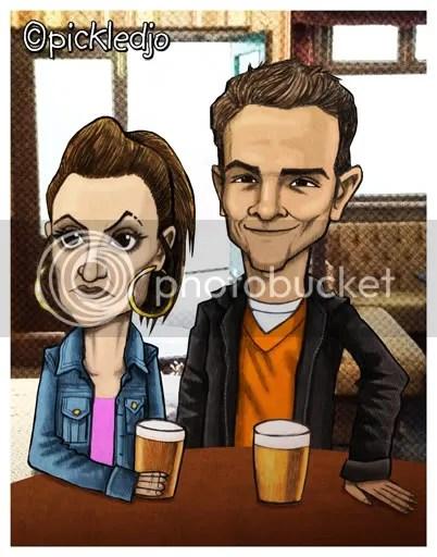 kylie, david platt, corrie, coronation street caricature