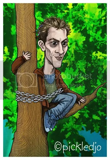 Spider Nugent Caricature Coronation Street