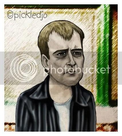 Steve McDoanld Caricature Coronation Street