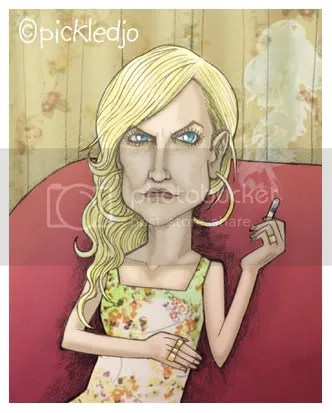 Becky McDonald Caricature. Coronation Street.