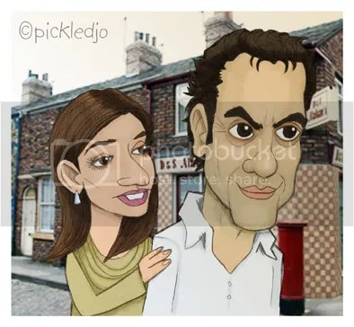 Dev Alahan & Sunita Alahan from Coronation Street.
