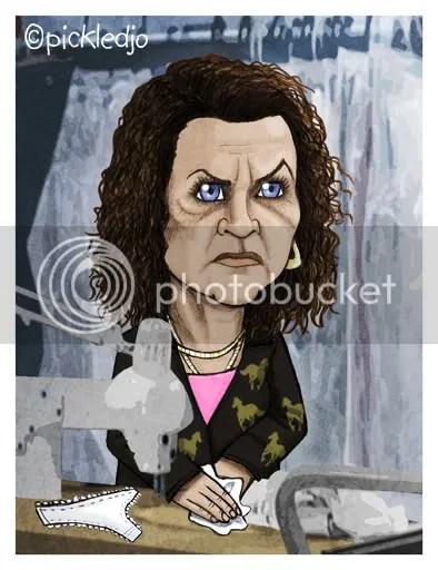 Janice Battersby caricaure