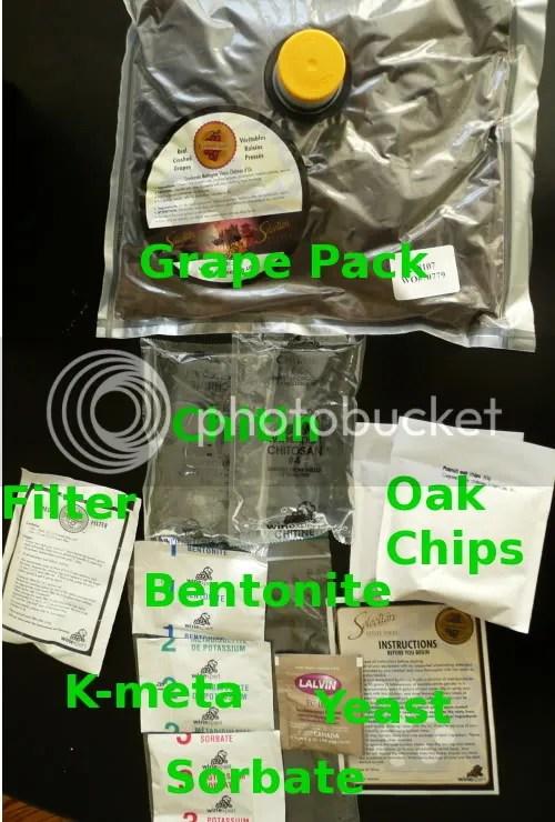 Wine kit contents