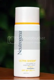 neutrogena sheer water light