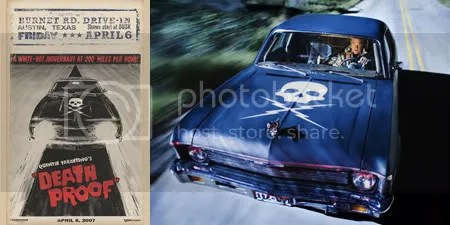 Death Proof poster and production photo