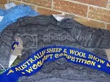 Jean Piddington's knitted Mohair Jumper won a first prize at the Australian Sheep and Wool Show in Bendigo