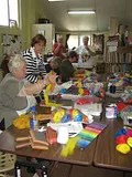Guild members enjoying Denise Stevens' Creative Colour and Design Workshop
