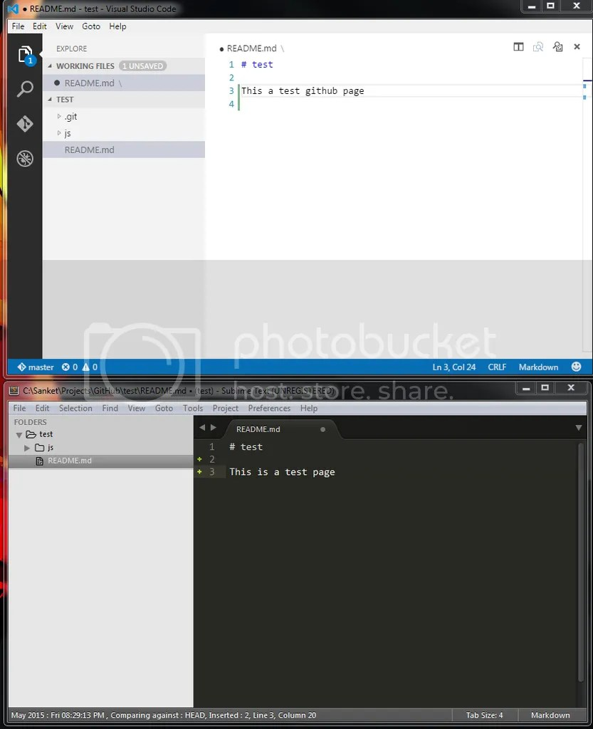 Lets do some magic with Git Bash : Visual Studio Code