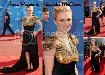 Anna Paquin in Alexander McQueen Emmy Red Carpet