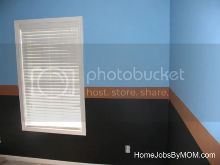 black, blue, and brown mario room