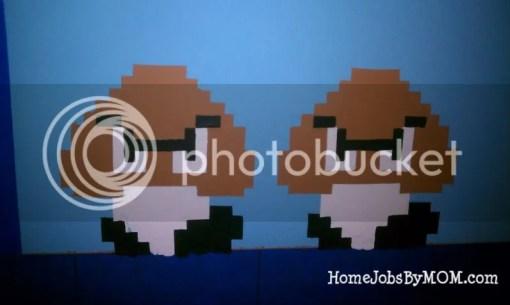painted mario goombas