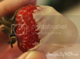 white chocolated covered strawberry