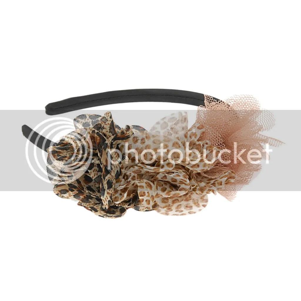 Aldo animal print puffs headband