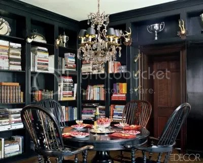 Black with distressed furnishings