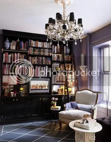 Black Shelves, Chandelier
