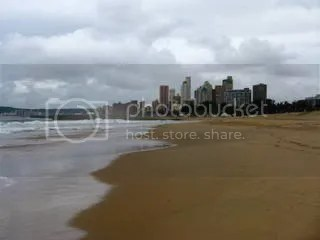 Indian Ocean and Durban skyline
