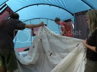 How many muzungu does it take to set up a tent?
