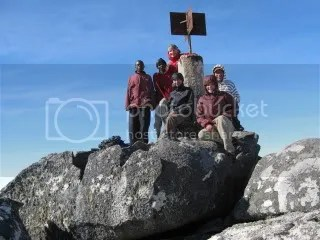 The crew at Sapitwa peak