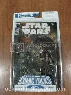 Star Wars toy and comic