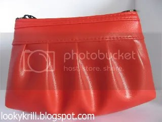 red coin purse