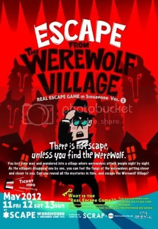 Werewolf village flyer