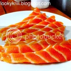 sashimi slices