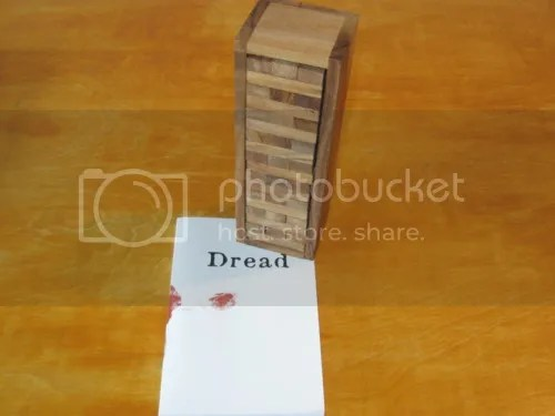 Dread and a Jenga tower