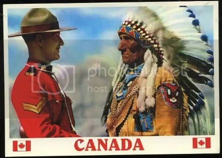 Mountie and indian