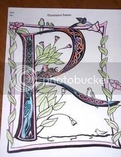 Kaira's Illuminated Letter (From SOTW template)