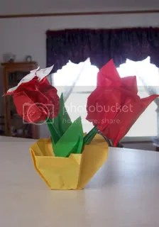 Origami Flowers by Ken and the Froggies