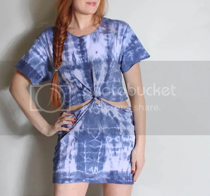 No sew t shirt beach dress made from mens undershirts