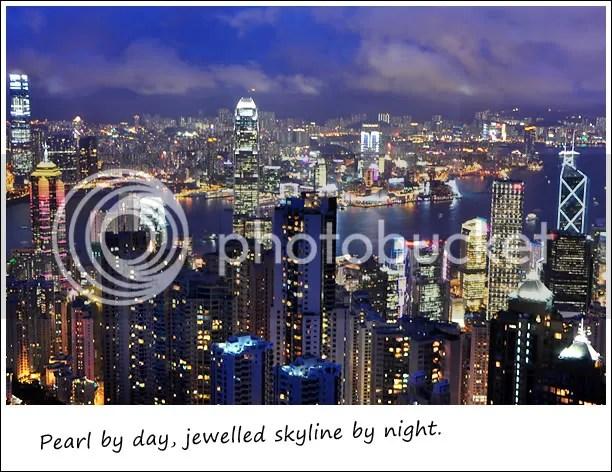 Night view of HK skyline