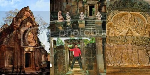 The tiny Banteay Srei