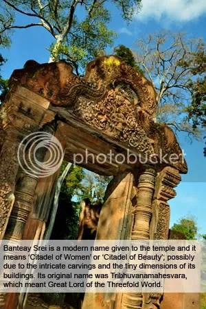 Banteay Srei door arch