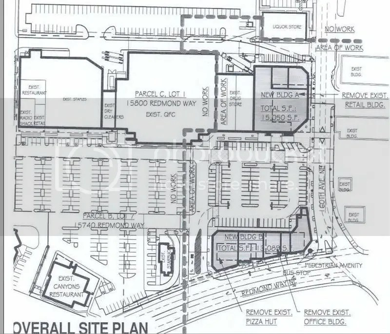 Click image for a link to the site plan on the City of Redmond website (PDF link)