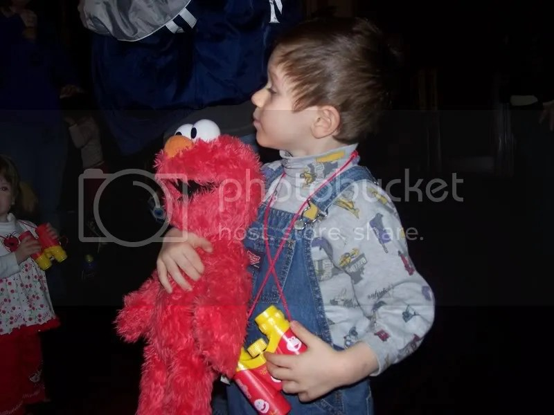 I'm going to go to the jungle with my binoculars and Elmo!