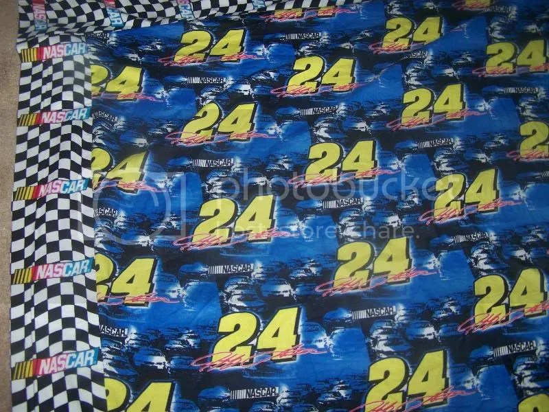 NASCAR checkerd flags-this is the border all sewn on..