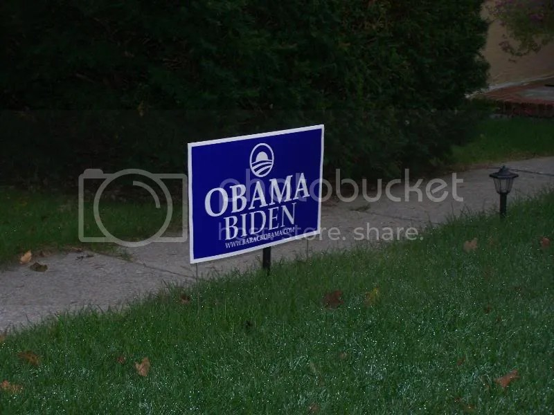 He put a campaign sign on his lawn...