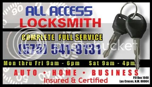 Locksmith Business Card Alan S Blog