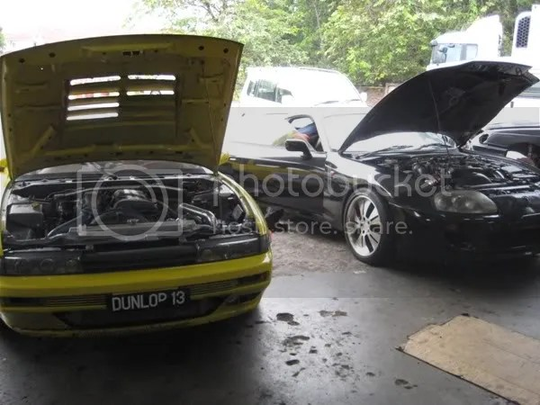 Seans Silvia and an unknown Supra