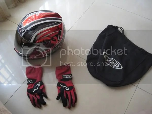 Racing Helmet and Gloves