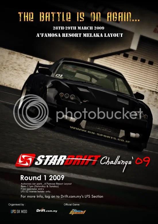LFS Star Drift Challenge 2009 - Rnd 1