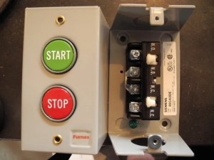 How to connect runstop switch to 3phase mag starter for RPC?