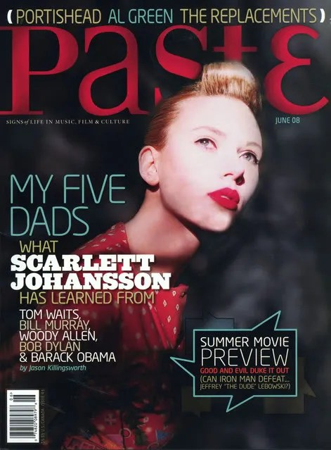 scarlett johansson paste magazine cover