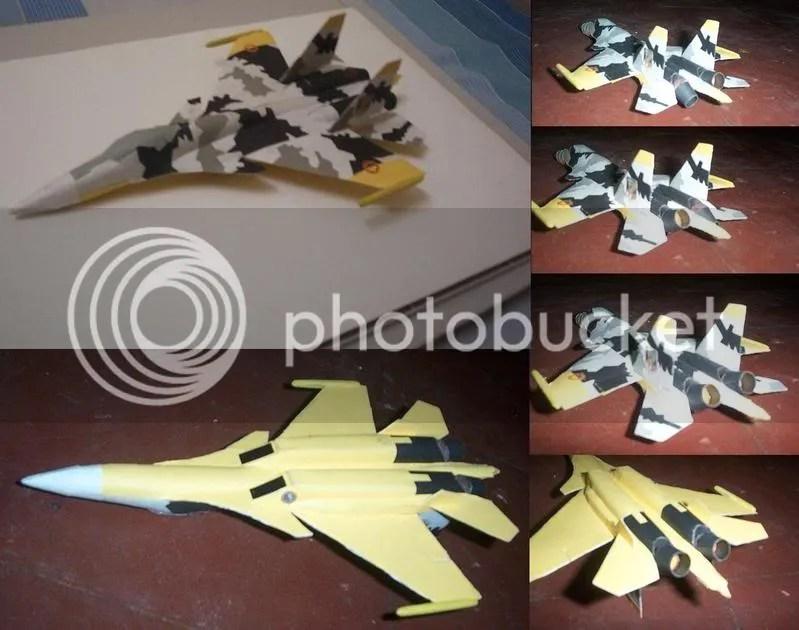 Su-37 yellow scheme