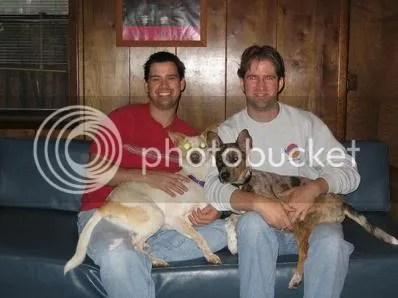 A cute family pic.  Ian & Bobby and their boys (Caleb and Skylar)