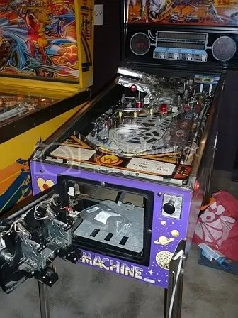 Game On: pinball machines.  An Atari Space Riders & a Williams Bride of Pinbot.
