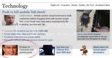 Clipping_Politician story on front of SMH & The Age