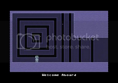 Screenshot: C64 demake of VVVVVV